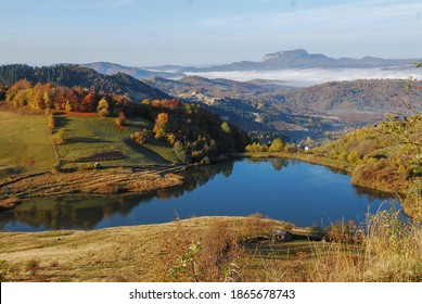 Taul mare lake in rosia montana,apuseni mountains,romania