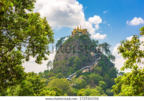 Taung Kalat Monastery at Mt. Popa, Mandalay Division, Myanmar.