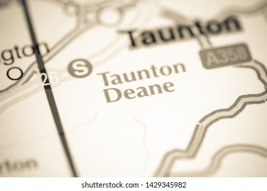 Taunton Deane. United Kingdom on a map