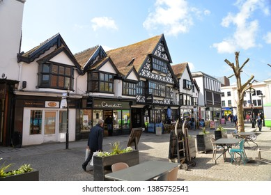 Taunton, England – April 27, 2019: Taunton Cityscape, Taunton, United Kingdom, Europe