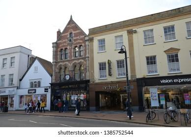 Taunton, England – April 27, 2019: Taunton Cityscape, Taunton, United Kingdom, Europe