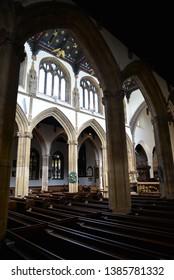Taunton, England – April 27, 2019: St Mary's Church in Taunton, United Kingdom, Europe