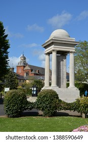 Taunton, England – April 27, 2019: Vivary Park in Taunton, United Kingdom, Europe