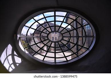 Taunton, England – April 27, 2019: Window in Taunton, United Kingdom, Europe