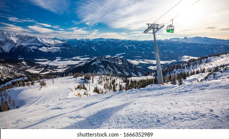 Tauplitz Alm close to Bad Mitterndorf in Styria, Austria, in winter.