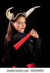 Taurus or Bull woman, this photo is part of a series of twelve Zodiac signs of astrology
