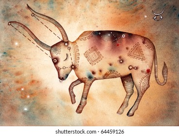 Taurus. Logo-like Zodiac Star Signs