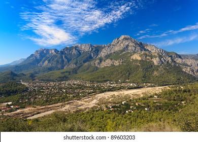 Taurus Mountains in Goynuk, Turkey