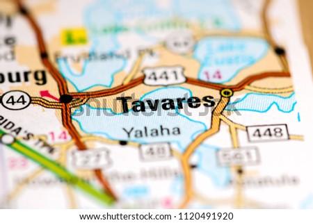 Map Tavares Florida.Tavares Florida Usa On Map Stock Photo Edit Now 1120491920
