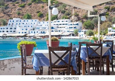Tavern in Crete, Loutro