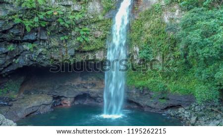 e5c863b9b37d15 Taveuni Island Waterfall Fiji Stock Photo (Edit Now) 1195262215 ...