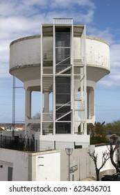 Tavira, Algarve, Portugal - 13/04/2016: Old water tower