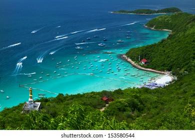 Tawaen Beach at Lan Island, Pattaya, Thailand.