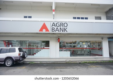 Tawau, Malaysia - 14/10/2018 :Agro Bank Tawau branch is a Malaysian government-owned bank under the Minister of Finance Incorporated focusing on Agro based industry