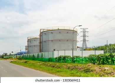 Tawau, Sabah, Malaysia - April 26 2015: Kubota Power Station (malay: Stesen Janakuasa Kubota), operated by Sabah Electricity Sdn Bhd (SESB)