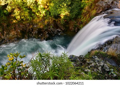 Tawhai Falls also known as Lord of the Rings Gollum Pools, in Tongariro National Park, New Zealand