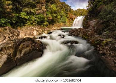 Tawhai Falls, Mount Ruapehu, Tongariro National Park, New Zealand