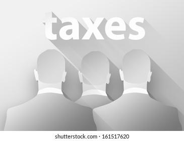 Tax collector concept, 3d illustration flat design