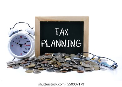Tax concept with text TAX PLANNING