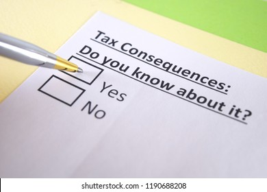 Tax consequences: do you know about it?