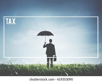 Tax Economics Goverment Return Label Concept