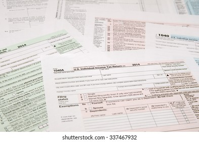 Tax Form 1040, close-up