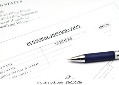 Tax form,