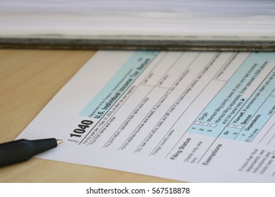 Tax form and document file, finance accounting and tax season concept