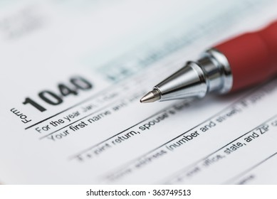 Tax form and pen macro