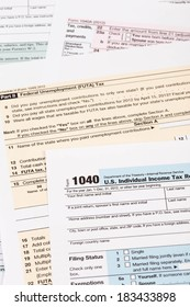 Tax form taxation concept
