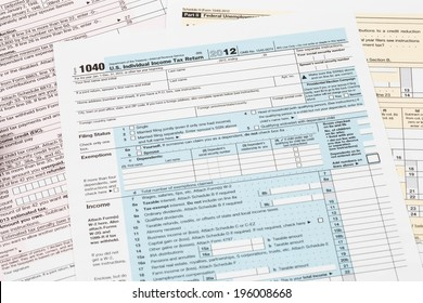 Tax form taxation concept