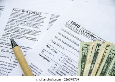 Tax Form W4, 1120, 1040