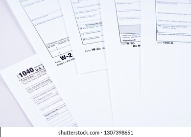 Tax Forms 1040 W 2 W 2 C W 2 G Stock Photo (Edit Now