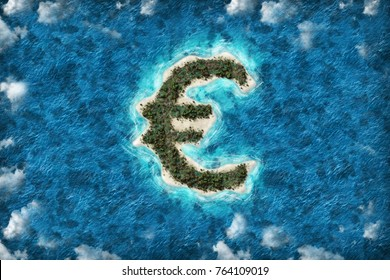 Tax haven financial or wealth evasion on a EURO shaped island.