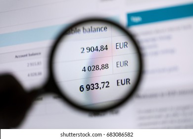 tax inspector checking account balance concept