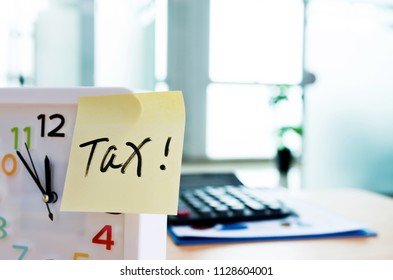 Tax on the alarm clock face in office