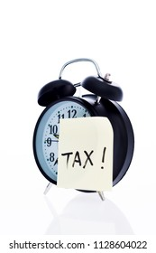 Tax on the alarm clock face.