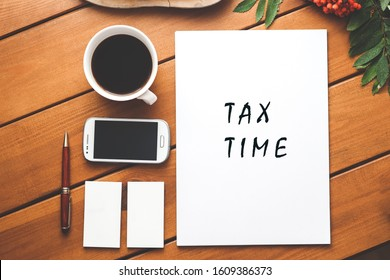 Tax payment concept. Notification of the need to file tax returns. Government Taxes.
