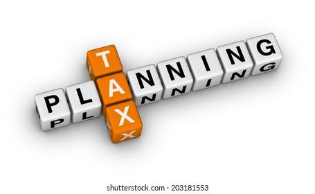 tax planning (orange-white crossword series)