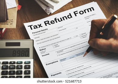 Tax Refund Application Form Concept
