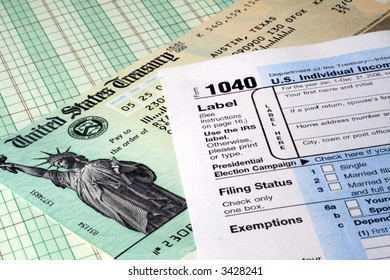Tax Return and Refund Check