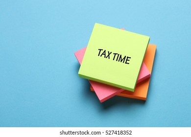 Tax Time, Business Concept