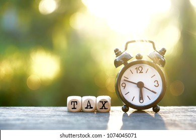 Tax Time on nature background