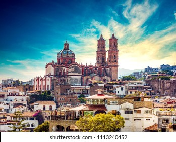 Taxco cathedral, Mexico