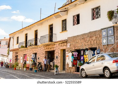 TAXCO, MEXICO - OCT 28, 2016: Beautiful view of Taxco, Mexico. The town is known because of its Silver products
