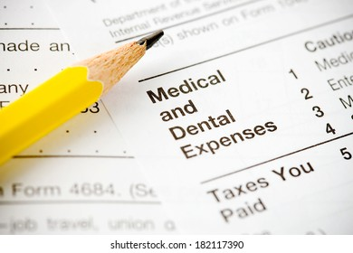 Taxes: Focus on Medical and Dental Section of 1040 Form