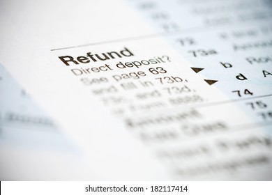 Taxes: Focus on Refund Section on 1040 Tax Form