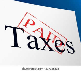 Taxes Paid Showing Levy Finance And Excise