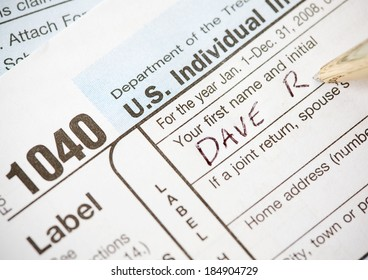 Taxes: Putting Name Onto 1040 Tax Form