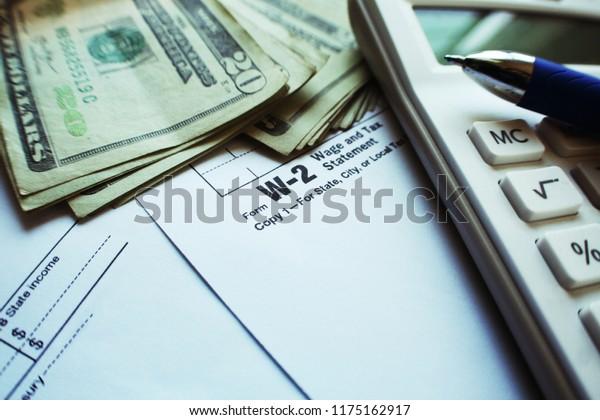 w2 form calculator  Taxes W14 Form Calculator Twenty Dollar Stock Photo (Edit Now ...